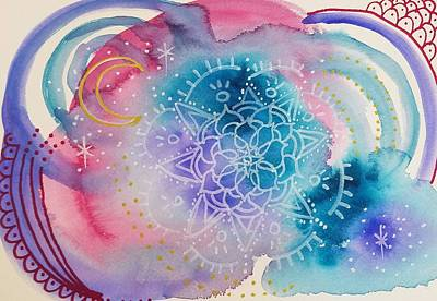 Painting - Watercolor Mandala by Heather Shalhoub