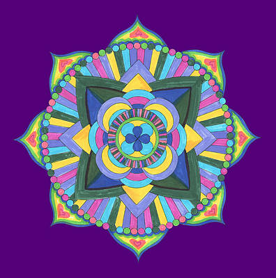 Royalty-Free and Rights-Managed Images - Watercolor Mandala PNG by Irina Sztukowski