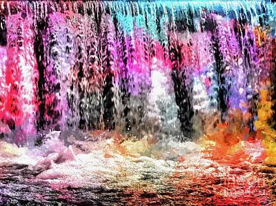 Comic Character Paintings - Waterfall Colored by Daniel Janda