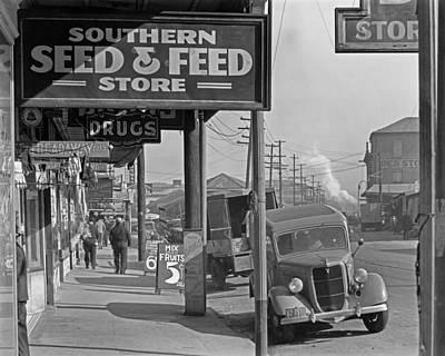 Photograph - Waterfront in New Orleans, French Market Sidewalk Scene, Louisiana by Walker Evans