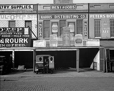 Photograph - Waterfront Warehouses, New Orleans Louisiana by Walker Evans by Walker Evans