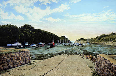 Painting - Watermouth Cove Summer Evening by Mark Woollacott