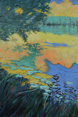 Painting - Water's Edge - Reflection by Aaron Bowles