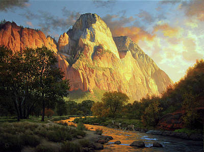 Painting - Waters of Evening by John Cogan