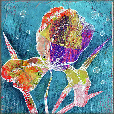 Royalty-Free and Rights-Managed Images - Watery Iris I by Shadia Derbyshire