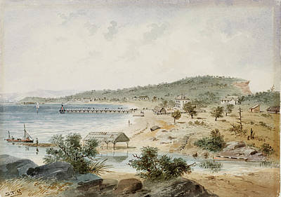 Rusty Trucks - Watsons Bay Port Jackson, Sydney, c.1855 Samuel Thomas Gill by Artistic Rifki