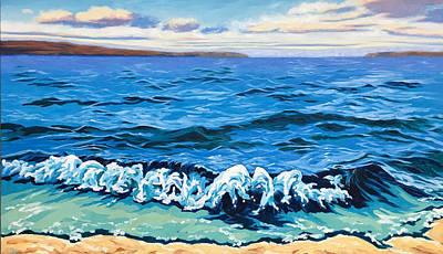 Thomas Kinkade Royalty Free Images - Waves Breaking Royalty-Free Image by Rose Ellis