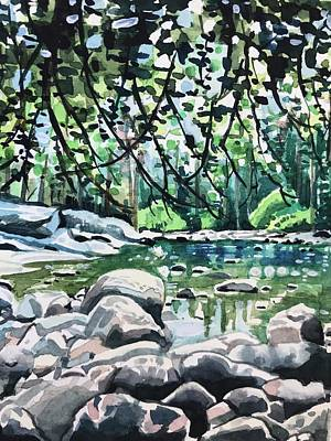 Fun Patterns - Wawona Swimming Hole by Luisa Millicent