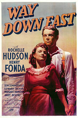 Kim Fearheiley Photography - Way Down East, with Rochelle Hudson and Henry Fonda, 1935 by Stars on Art