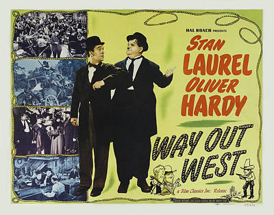 Royalty-Free and Rights-Managed Images - Way Out West, with Laurel and Hardy, 1937 by Stars on Art