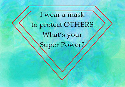Namaste With Pixels Royalty Free Images - Wear a Mask Royalty-Free Image by Ann Tracy