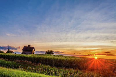 Royalty-Free and Rights-Managed Images - Weathered Barn at Sunset by Andrew Soundarajan