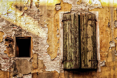 Whimsically Poetic Photographs - Weathered Window by George Buxbaum