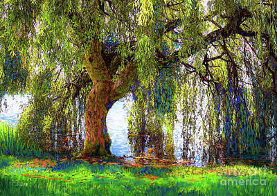 Landscapes Royalty-Free and Rights-Managed Images - Weeping Willow by Jane Small
