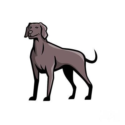 Katharine Hepburn - Weimaraner Dog Breed Mascot by Aloysius Patrimonio