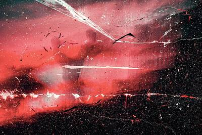 Royalty-Free and Rights-Managed Images - Weitkhrome-3 - red and white abstract painting by Julien