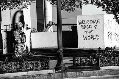 Photograph - Welcome Back To The World by D Justin Johns