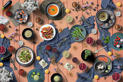 Garden Tools - Welcome To My Colorful And Delicious Spring Dinner by Johanna Hurmerinta