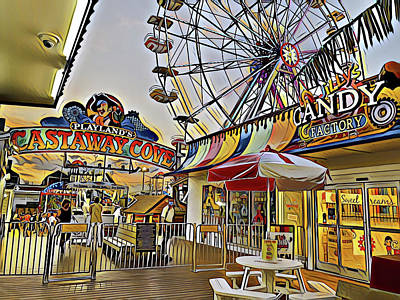 Surrealism Digital Art - Welcome to Playland by Surreal Jersey Shore