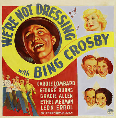 Royalty-Free and Rights-Managed Images - Were Not Dressing, with Bing Crosby and Carole Lombard, 1934 by Stars on Art