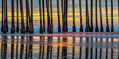 Royalty-Free and Rights-Managed Images - West Coast Pier Panorama - Pismo Beach California by Gregory Ballos