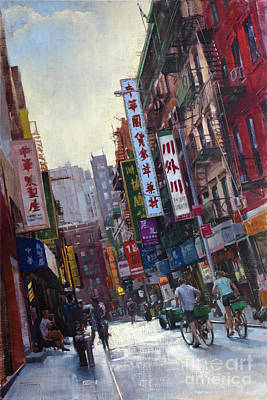 Painting - West On Pell by Patrick Saunders