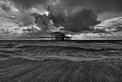 Modern Man Surf - West Pier Remains 2019 by Barry Goble