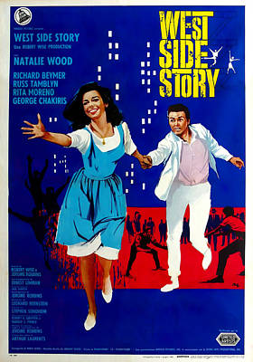 Typography Tees - West Side Story 1, with Natalie Wood, 1961 by Stars on Art