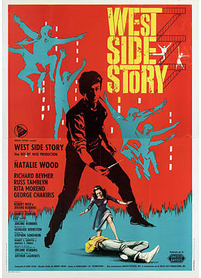 Royalty-Free and Rights-Managed Images - West Side Story poster 1961 by Stars on Art