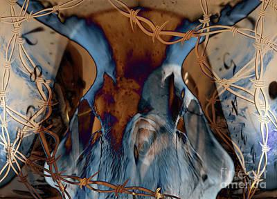 Surrealism Digital Art - Western Grunge by Bruce Rolff