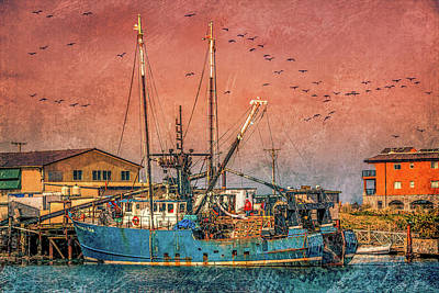 Anchor Down - Westport fishing boat 3 by Mike Penney