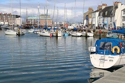 Clouds Royalty Free Images - Weymouth Harbour Royalty-Free Image by Michaela Perryman