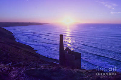 Keith Richards - Wheal Coates Purple Sunset by Terri Waters