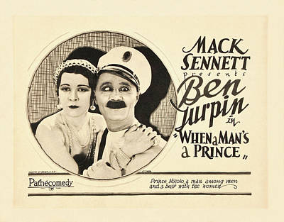 Mixed Media Royalty Free Images - When a Mans a Prince, with Ben Turpin, 1926 Royalty-Free Image by Stars on Art