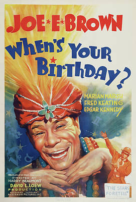 Royalty-Free and Rights-Managed Images - Whens Your Birthday?, 1937 by Stars on Art