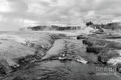 Photo Royalty Free Images - Where The Firehole River Begins  Royalty-Free Image by Jeff Swan