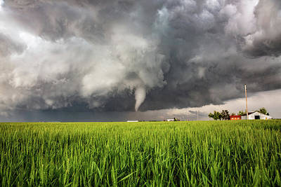 Truck Art Rights Managed Images - Whims of the Weather - Tornado Over Wheat Field in Texas Royalty-Free Image by Southern Plains Photography