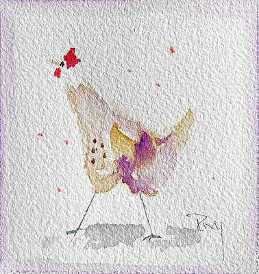 Painting - Whimsical Rooster 27 by Roxy Rich