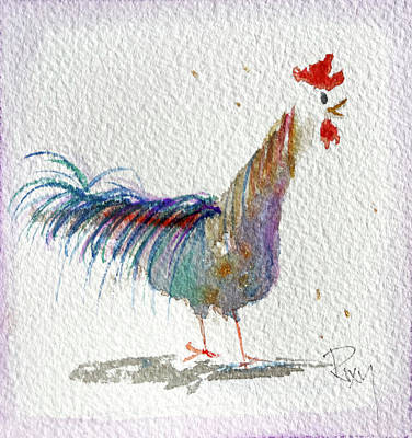 Painting - Whimsical Rooster 28 by Roxy Rich