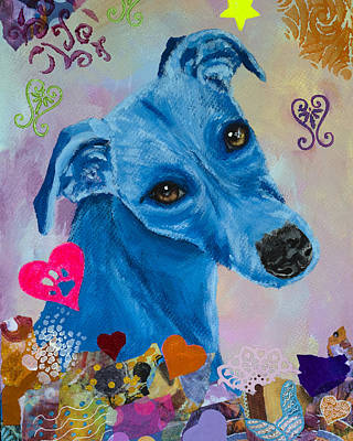 Painting - Whippet in the Garden by Kate Benzin
