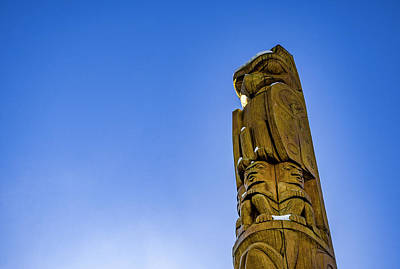 Shark Art - Whistler Totem Pole 2 by Pelo Blanco Photo