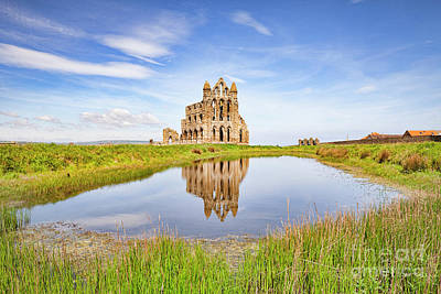 Royalty-Free and Rights-Managed Images - Whitby Abbey Reflection by Colin and Linda McKie