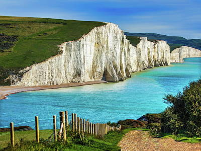 Landscapes Royalty-Free and Rights-Managed Images - White Cliffs of Dover by Anthony Dezenzio