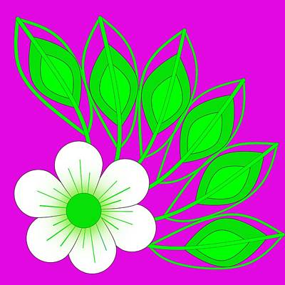 Digital Art - White Flower by Wilma Barnwell