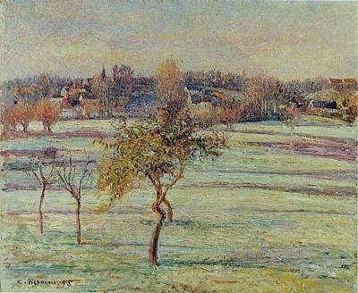 Unicorn Dust - White Frost at Eragny 1895  by Camille Pissarro 1830 1903 by Artistic Rifki