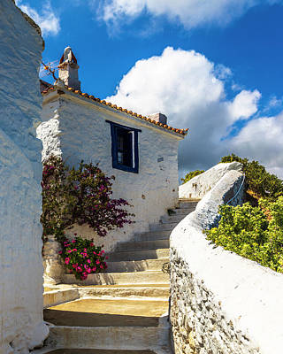 Everett Collection - White Greek House by Evgeni Dinev
