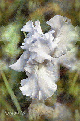 Pittsburgh According To Ron Magnes - White Iris by Theresa Campbell