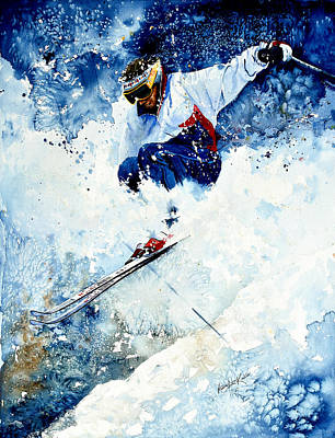 Sports Paintings - White Magic by Hanne Lore Koehler