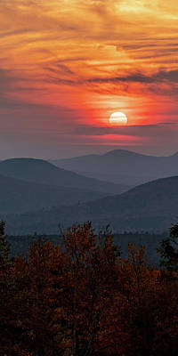 Photograph - White Mountains New Hampshire Sunset 1x2 by William Dickman