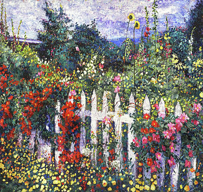Trick Or Treat - White Picket Fence by David Lloyd Glover